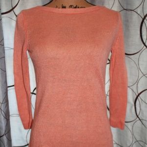 Peach Colored Talbots ¾ Sweater Size P